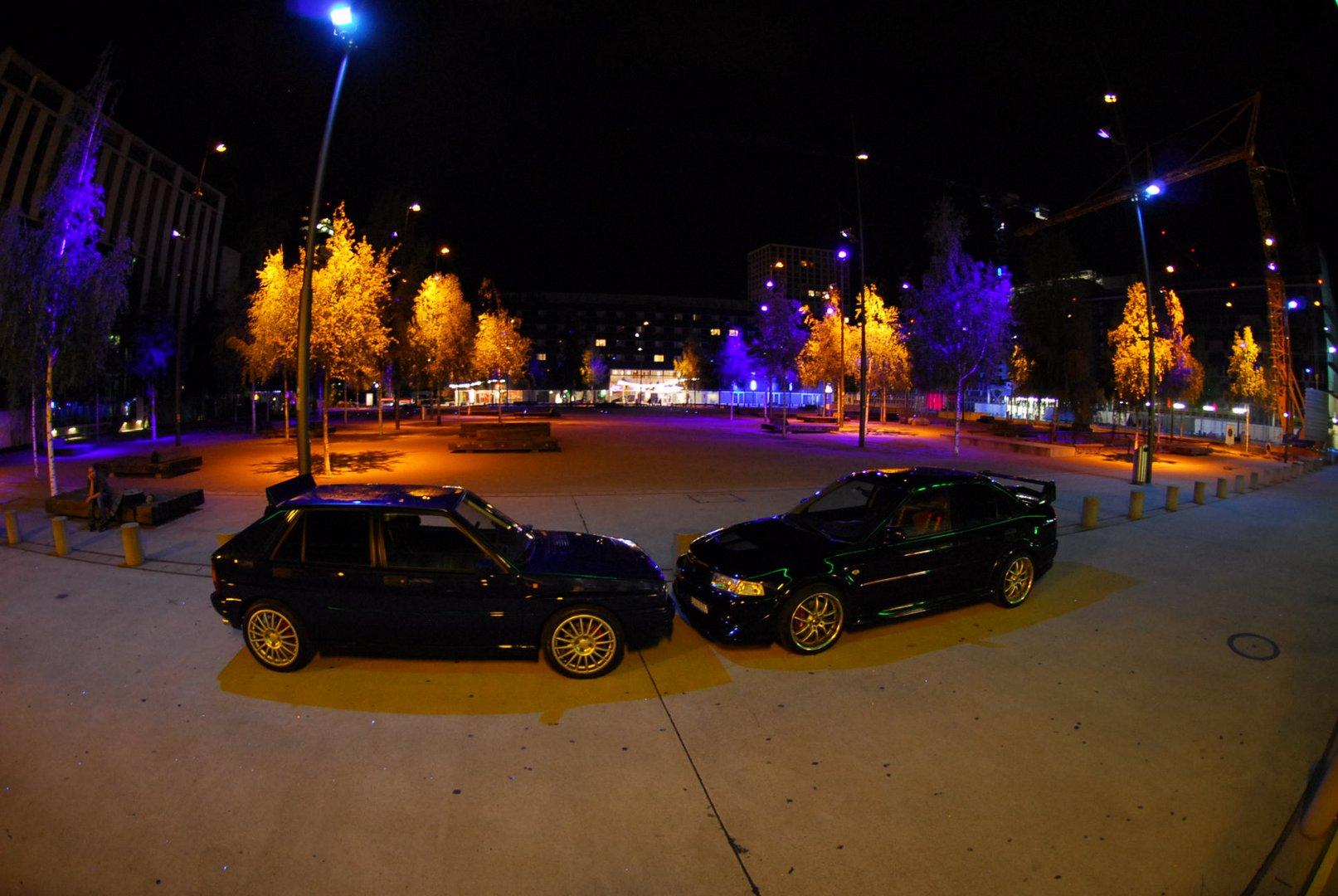 Lancia Integrale HF vs Mitsubishi Lancer EVO VI TME