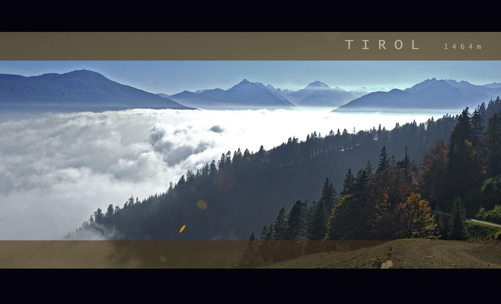 Land in den Bergen