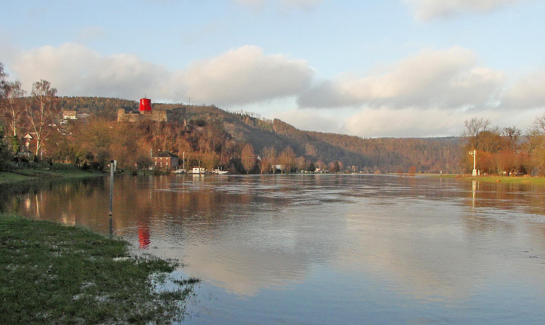 Land unter - Polle a.d. Weser