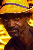 Landarbeiter im warmen Abendlicht