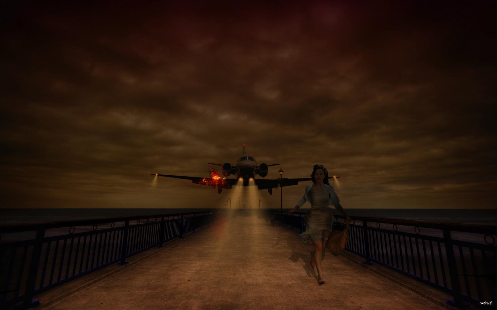 * Landeanflug