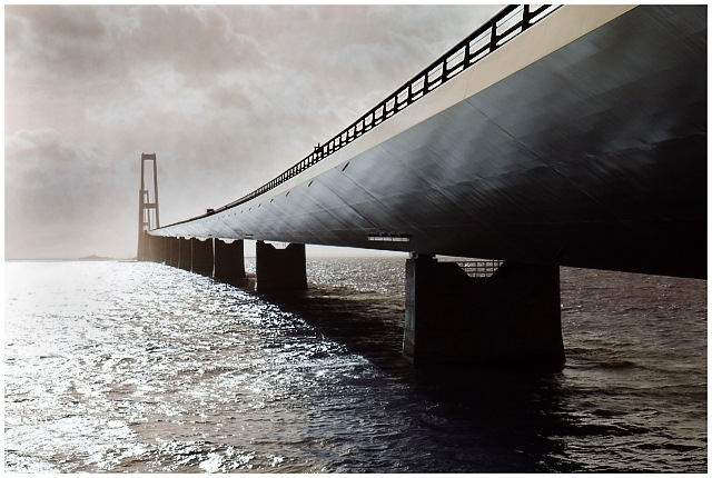 """Landevej"" Sjælland - Fyn, Storebæltsbroen"
