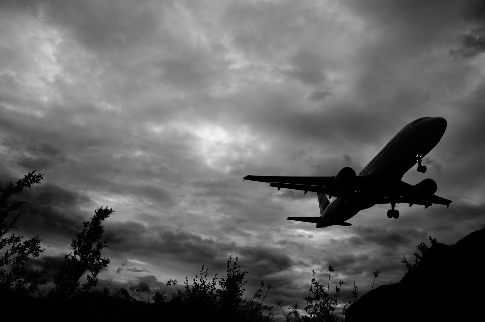 Landing in the sunset
