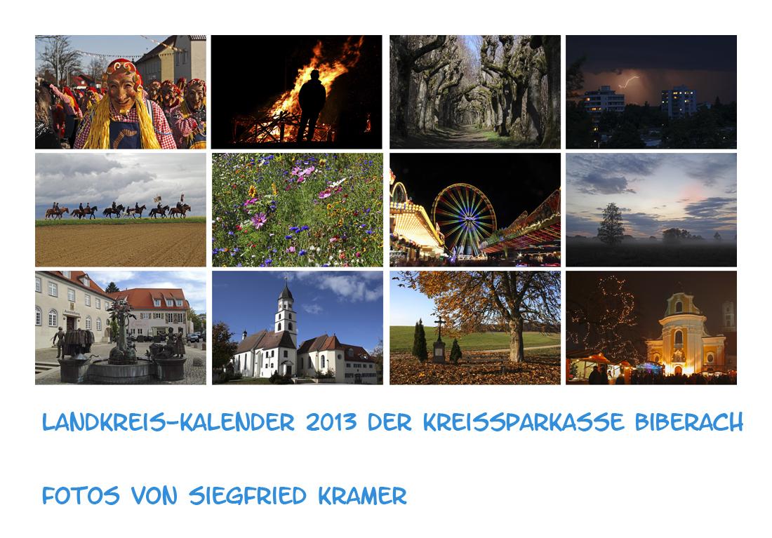 Landkreis-Kalender 2013 der Kreissparkasse Biberach