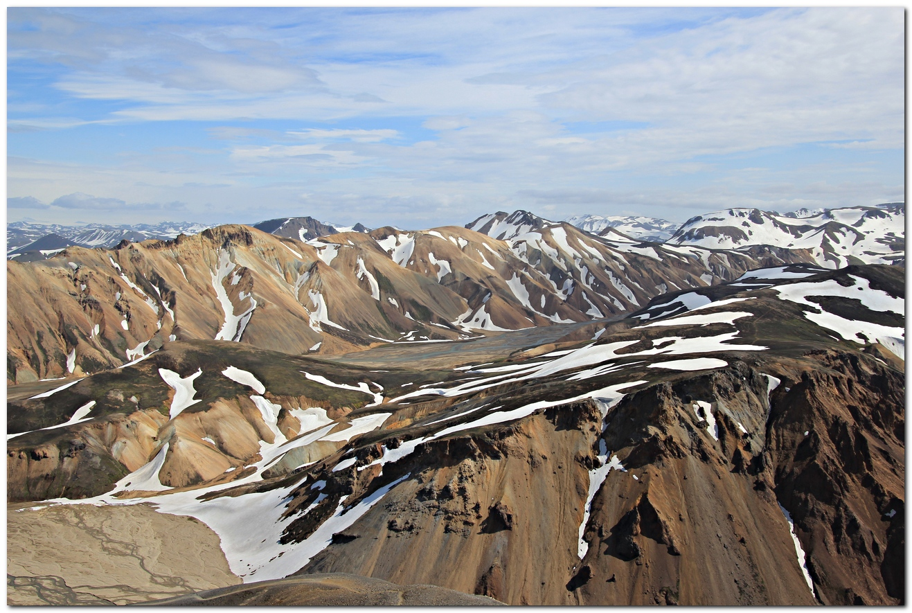 Landmannalaugar - Blick vom Bláhnjukur -
