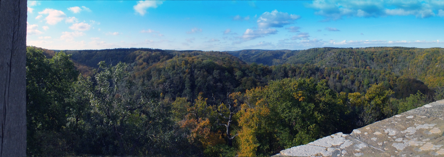 Landschaft auf der Burg Falkenstein