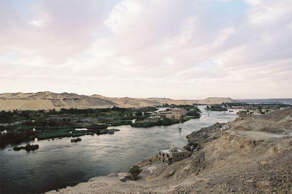 Landschaft bei Assuan