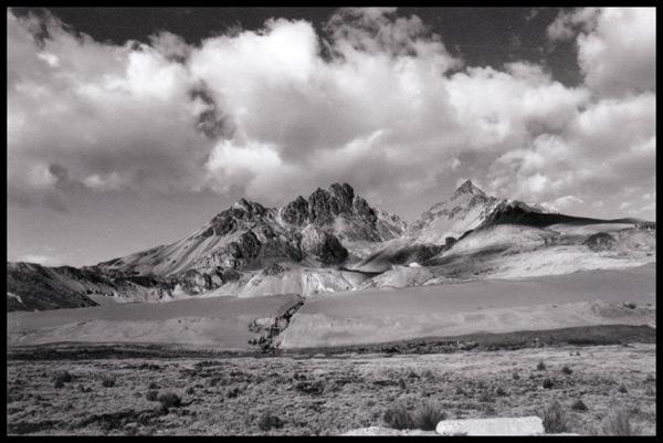 Landschaft bei Tarma auf 4,000 m (Anden Peru)