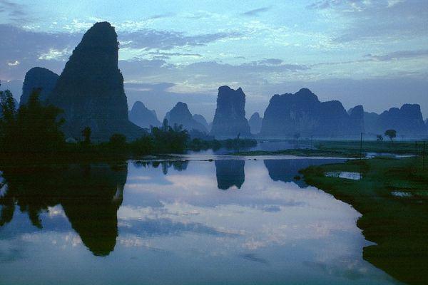 Landschaft bei Yangshuo