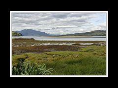 Landschaft beim Eilean Donan Castle