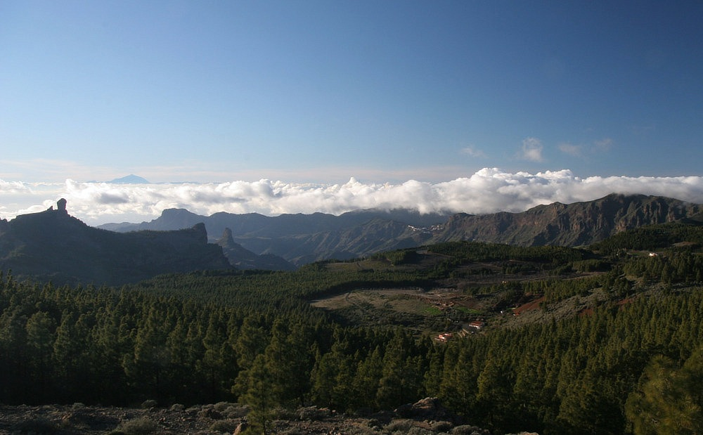 Landschaft des oberen Teil Gran Canarias
