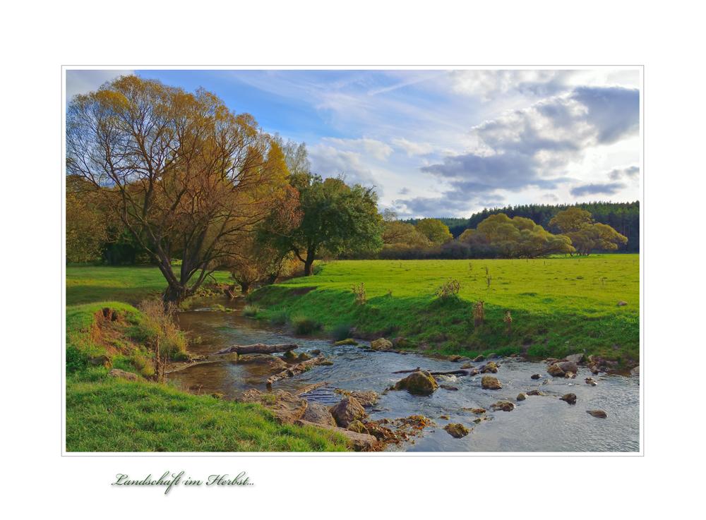 Landschaft im Herbst ...