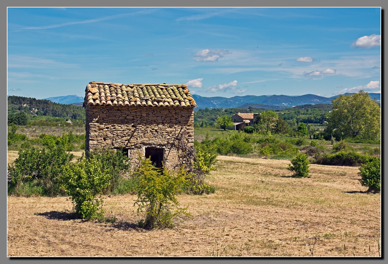 Landschaft im Luberon/Provence