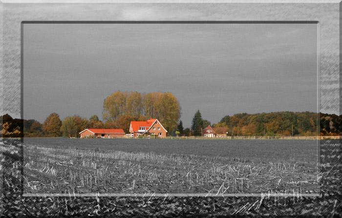 Landschaft im Rahmen