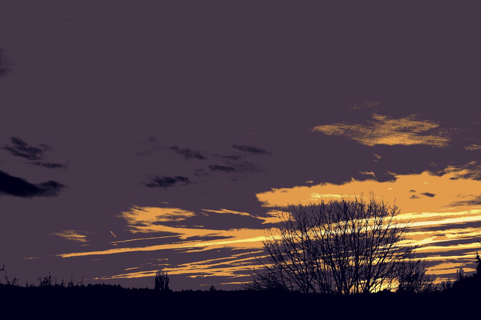 Landschaft im Sonnenuntergang