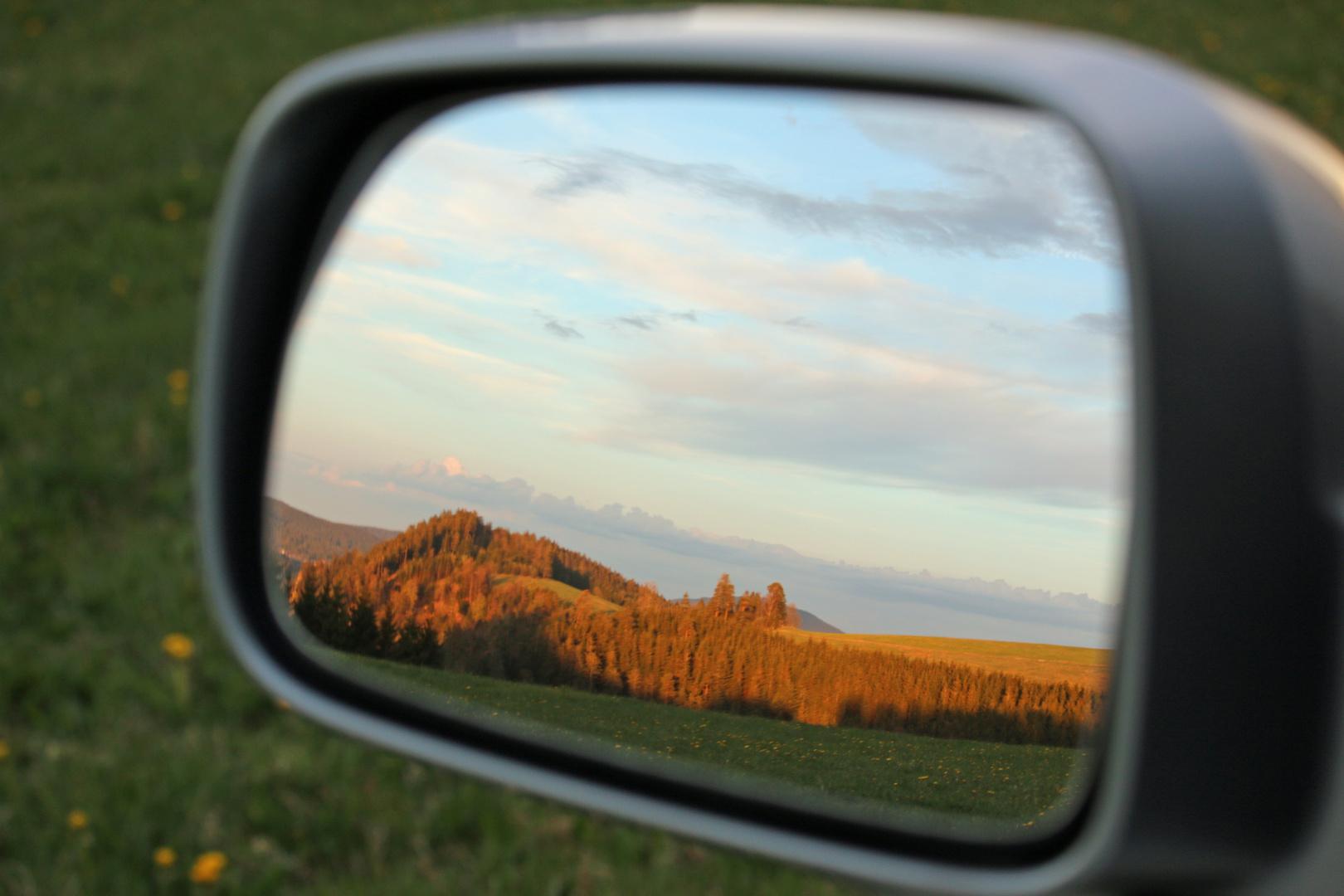 Landschaft im Spiegel