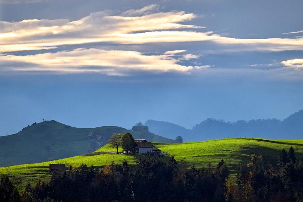 Landschaft in Appenzell, Schweiz
