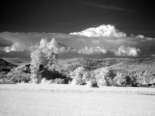Landschaft in Infrarot
