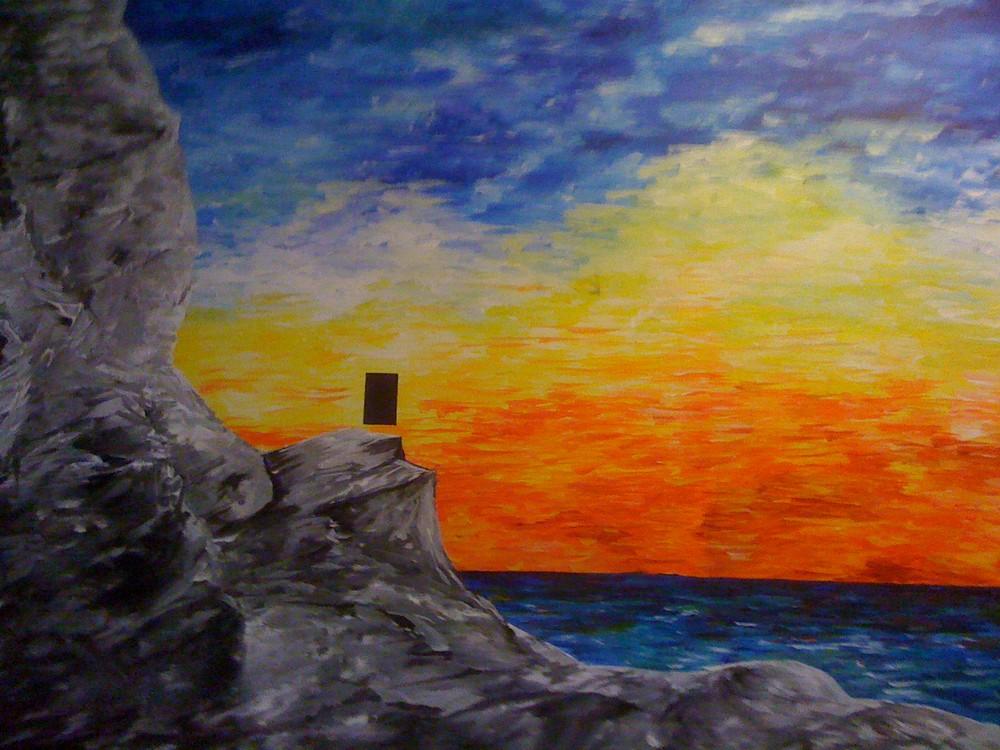 landschaft IV der Monolith