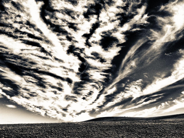 landschaft mit wolken .