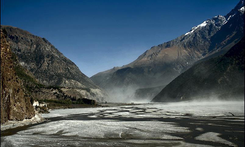 Landschaft nahe dem Annapurna * Pokhara / Nepal *