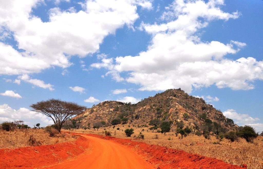 Landschaft Tsavo Ost NP.