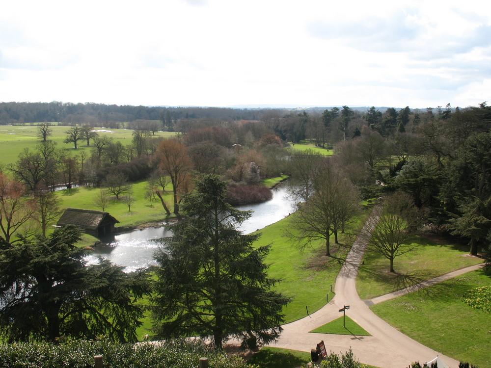 Landschaft um Warwick Castle