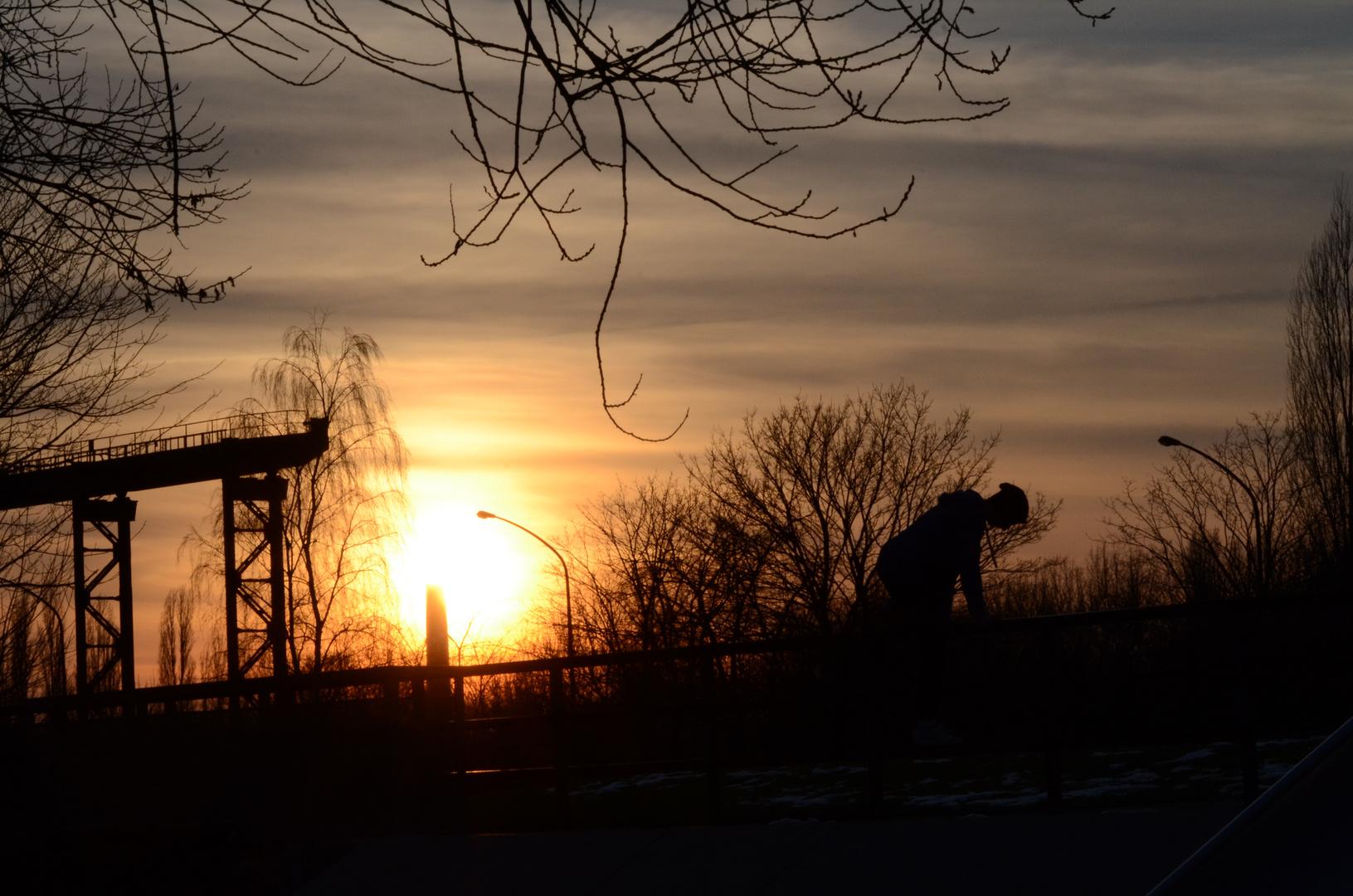 Landschaftpark Duisburg-Nord Sonnenuntergang