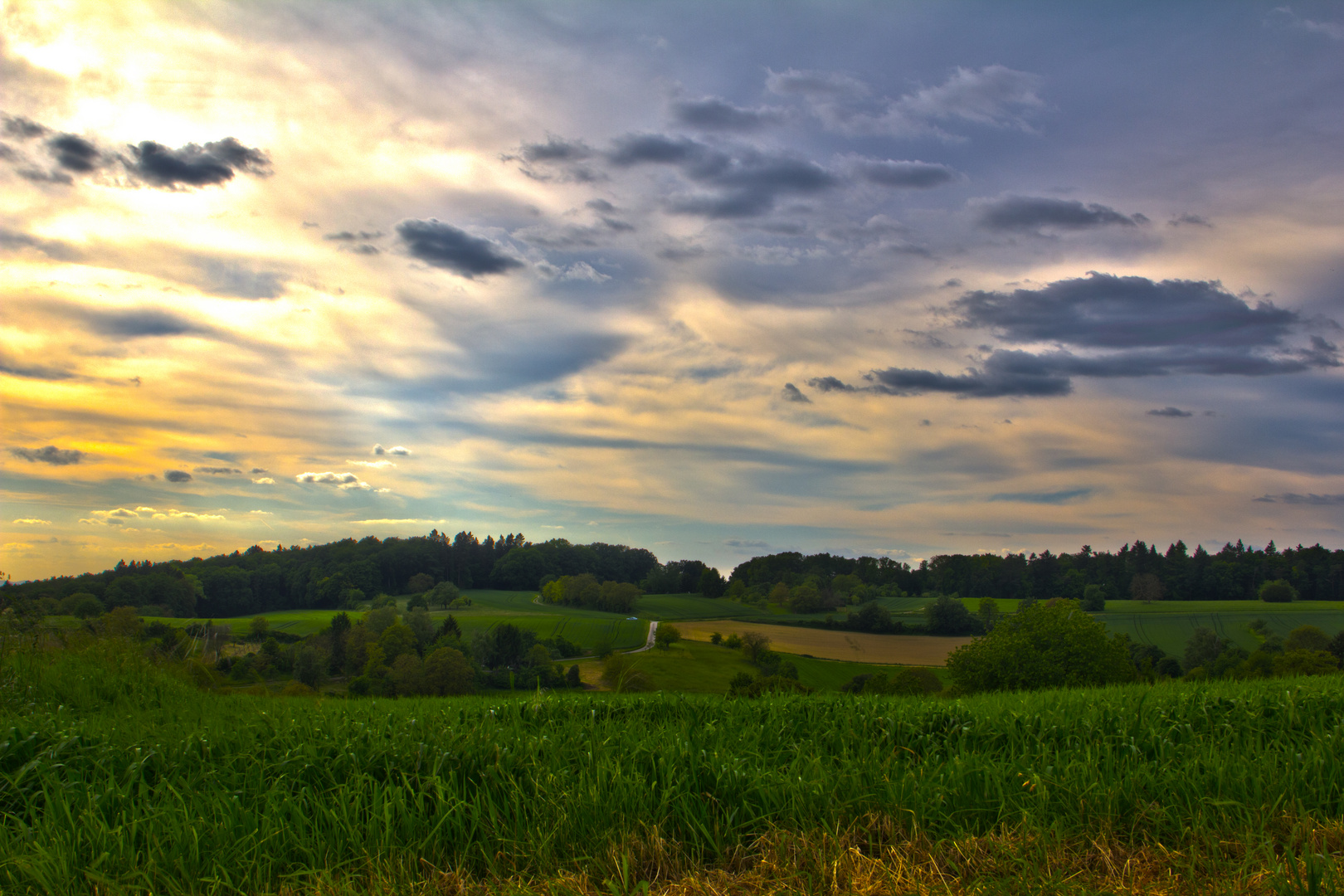 Landschaftsaufnahme im Kraichgau