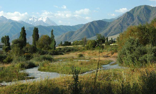 Landschaftsidylle in Kirgistan