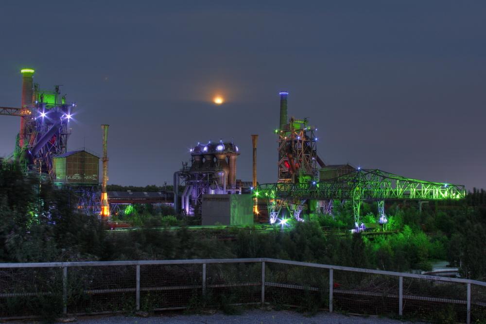 Landschaftspark Duisburg bei Nacht HDRI