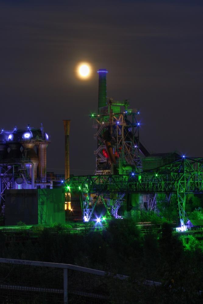 Landschaftspark Duisburg bei Nacht HDRI die 2te