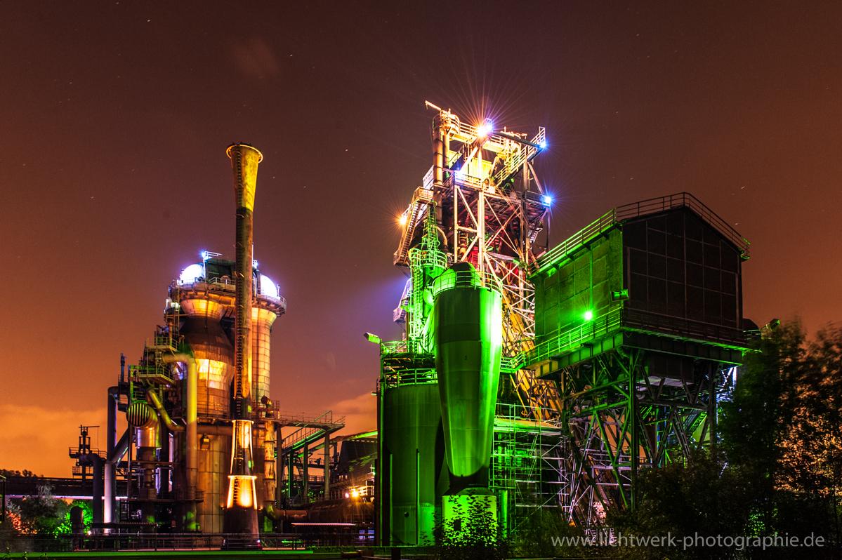 Landschaftspark Duisburg illuminiert 1
