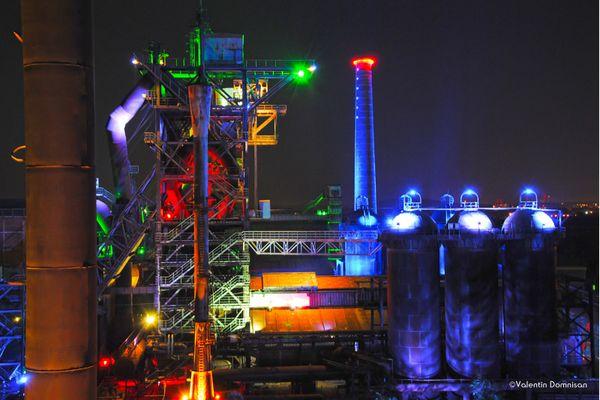 Landschaftspark Duisburg-Nord by night