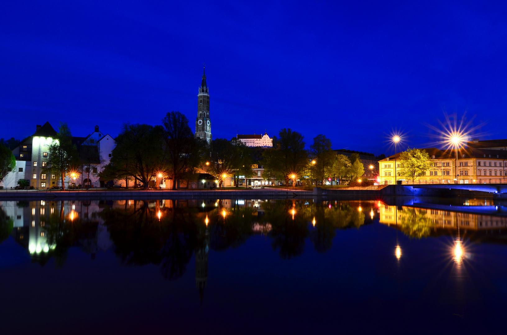 Landshut bei Nacht