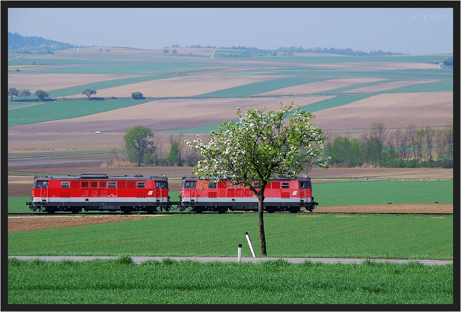 Landstrasse mit Zug IV