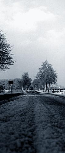 Landstrasse, nun in s/w