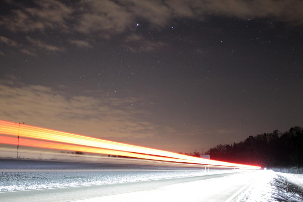 Landstraßenbeleuchtung