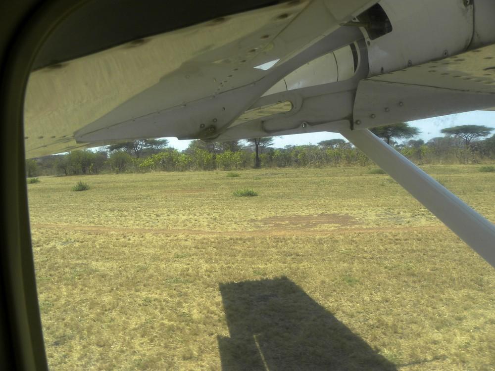 Landung im Katavi NP