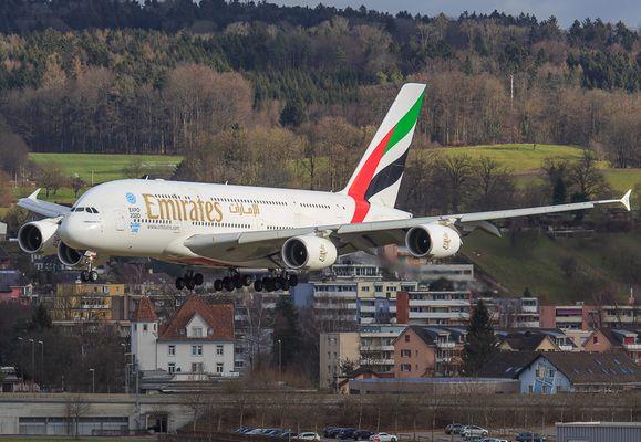 Landung in Zürich