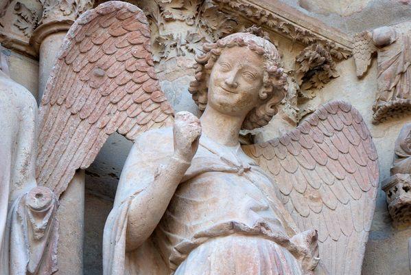 L'ange au sourire de la cathédrale Notre-Dame de Reims
