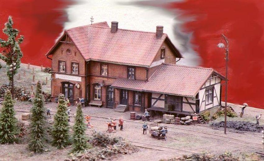 Langendiebach Kleinbahn-Bahnhof (Maßstab 1:87)