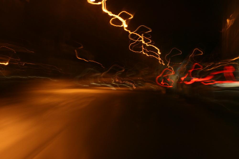 Langeweile beim Auto fahren