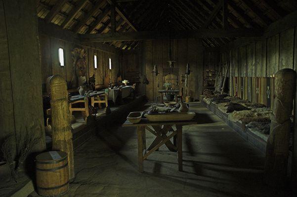 Langhaus eines Wikinger-Chiefs (Rekonstruktion) / Ribe / Dänemark