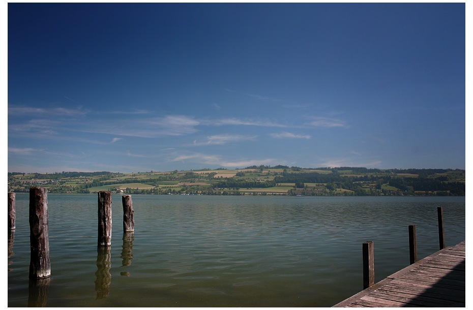 Langweiliges Urlaubsbild (3), mit Holz das im Wasser steht