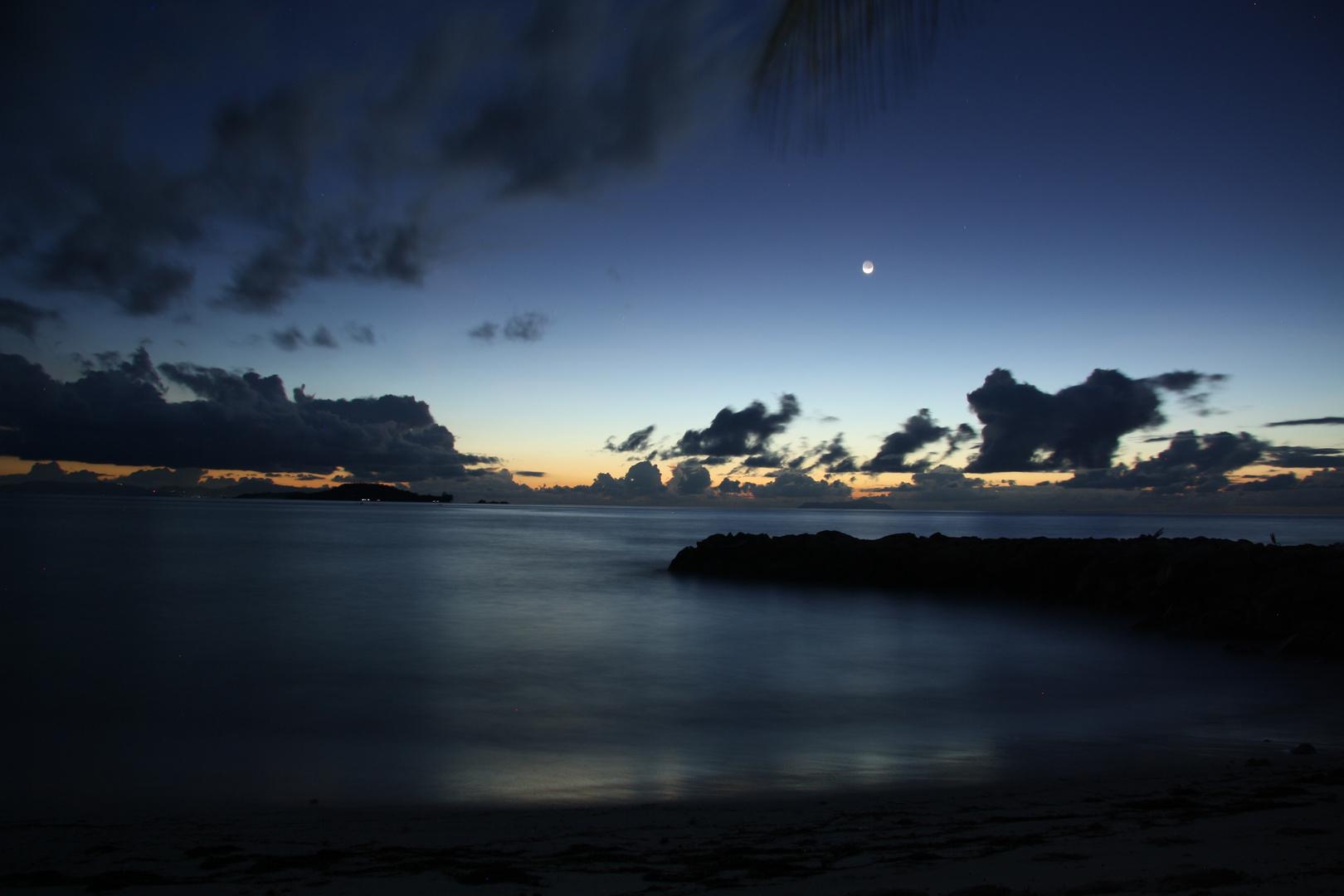 Langzeitbelichtung auf Praslin, Seychellen