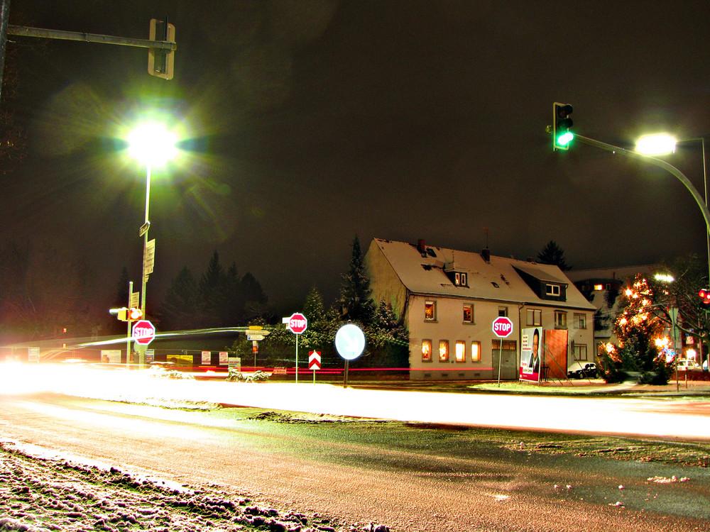 Langzeitbelichtung im Schnee