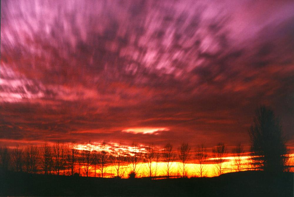 Langzeitbelichtung Sonnenuntergang