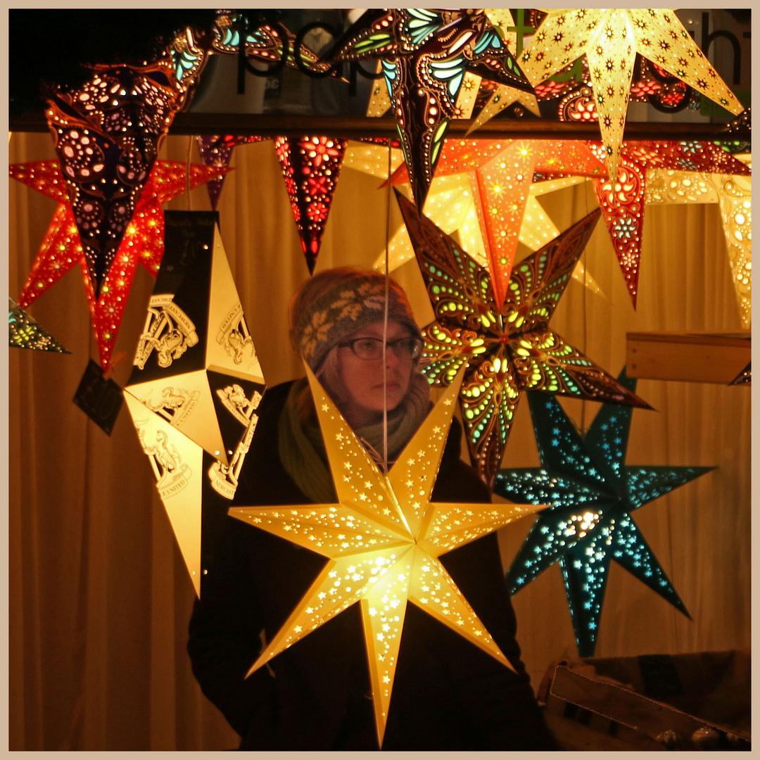 lantern-seller at newcastle christmas market
