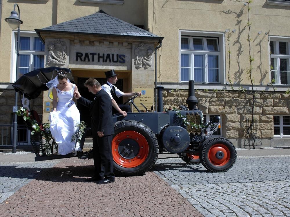 Lanz - Bulldog Hochzeitskutsche in Leipzig/Taucha